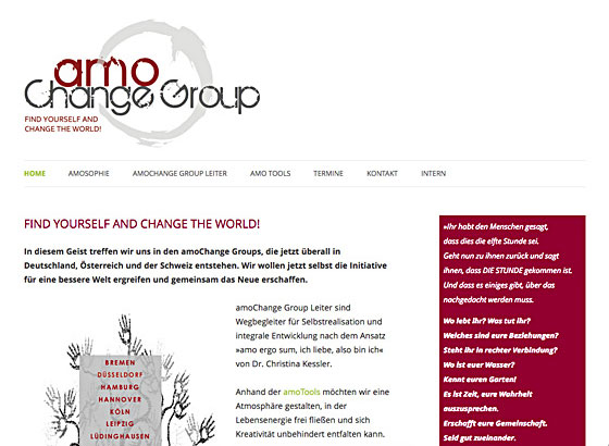 Amo Change Group Website