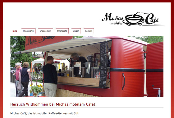 Michas Café Website
