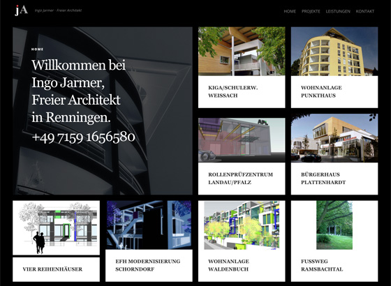 Website Architekt Jarmer